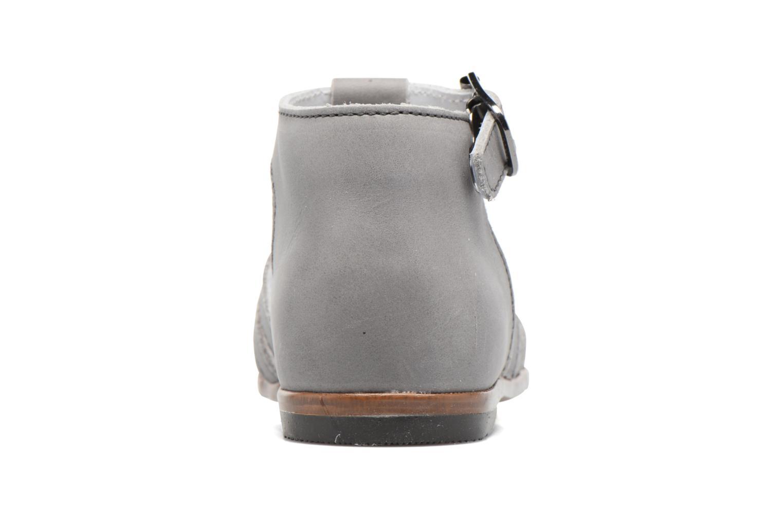 Sandales et nu-pieds Little Mary Jules Gris vue droite