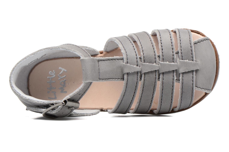 Sandales et nu-pieds Little Mary Jules Gris vue gauche