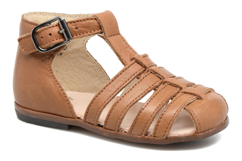 Sandales et nu-pieds Little Mary Jules Marron vue détail/paire