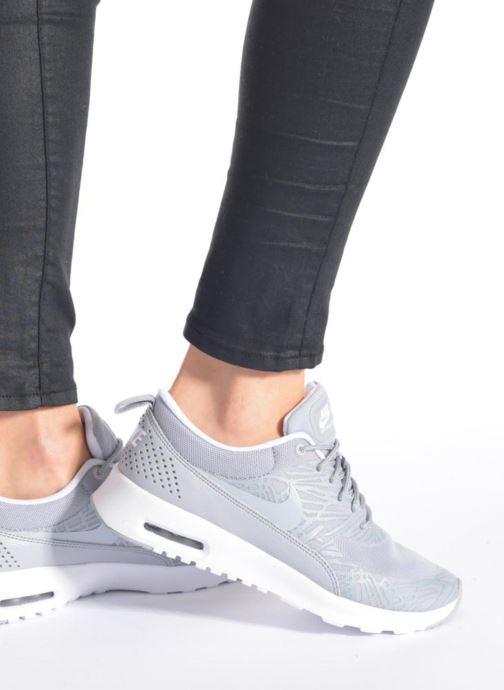 Sneaker Nike Wmns Nike Air Max Thea Print weiß ansicht von unten / tasche getragen