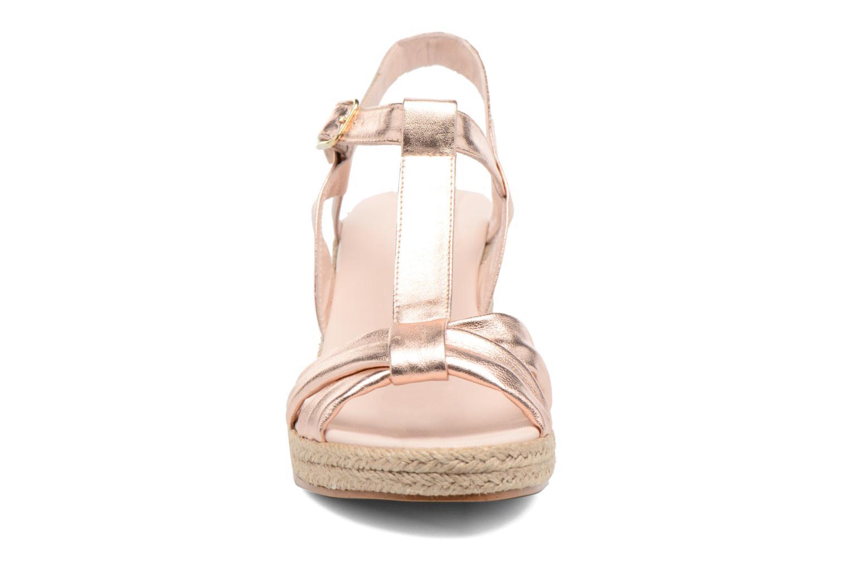 Sandales et nu-pieds Anna Volodia Jemeo Or et bronze vue portées chaussures