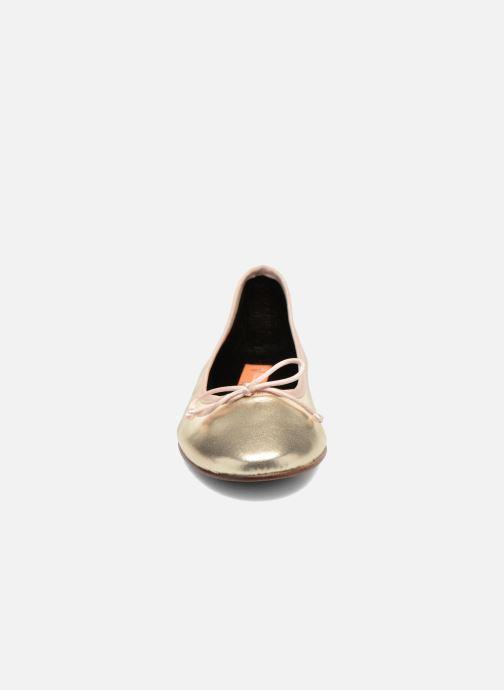 Ballerines Anna Volodia Luna Or et bronze vue portées chaussures