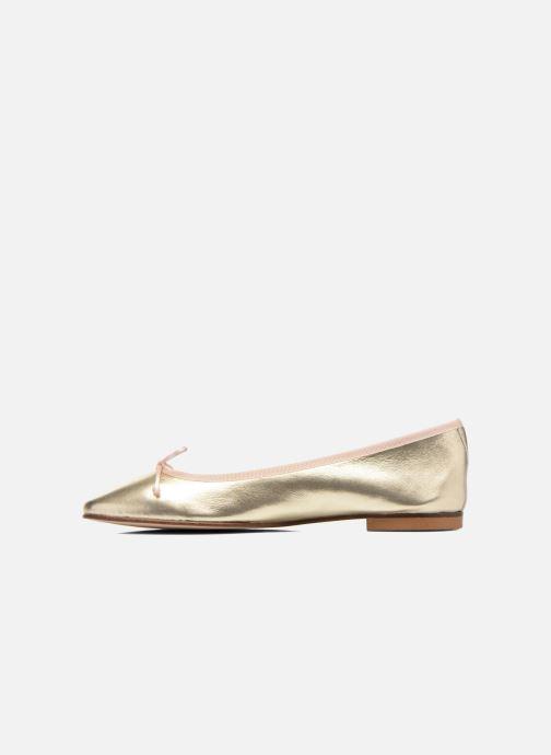 Ballet pumps Anna Volodia Luna Bronze and Gold front view