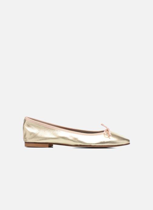 Ballet pumps Anna Volodia Luna Bronze and Gold back view