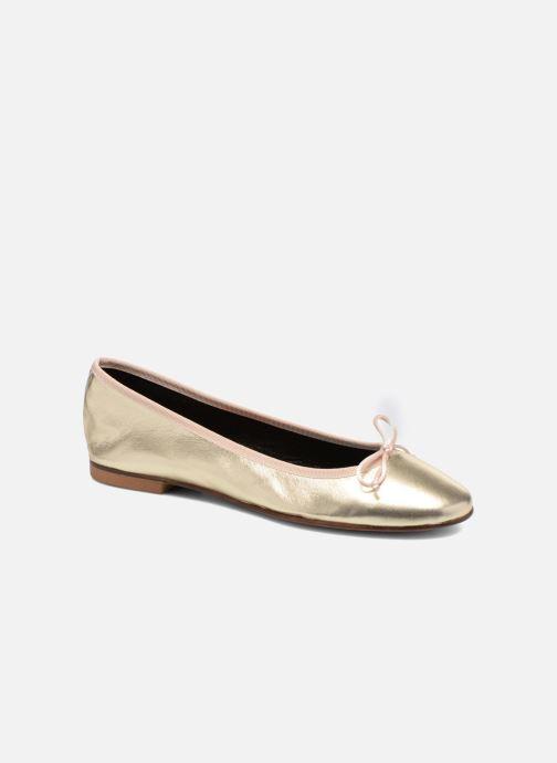 Ballet pumps Anna Volodia Luna Bronze and Gold detailed view/ Pair view
