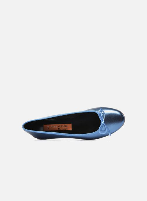 Ballet pumps Anna Volodia Luna Blue view from the left