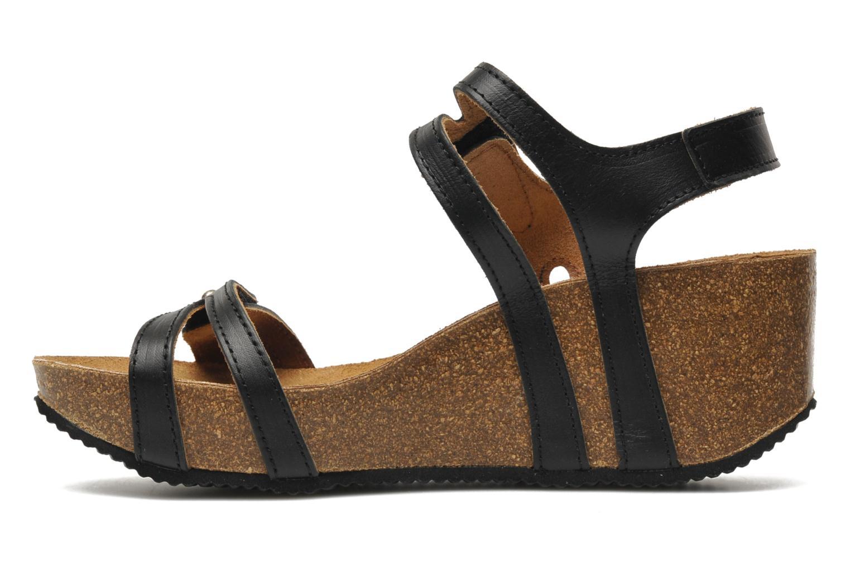 Sandales et nu-pieds Rondinaud Falleron Noir vue face