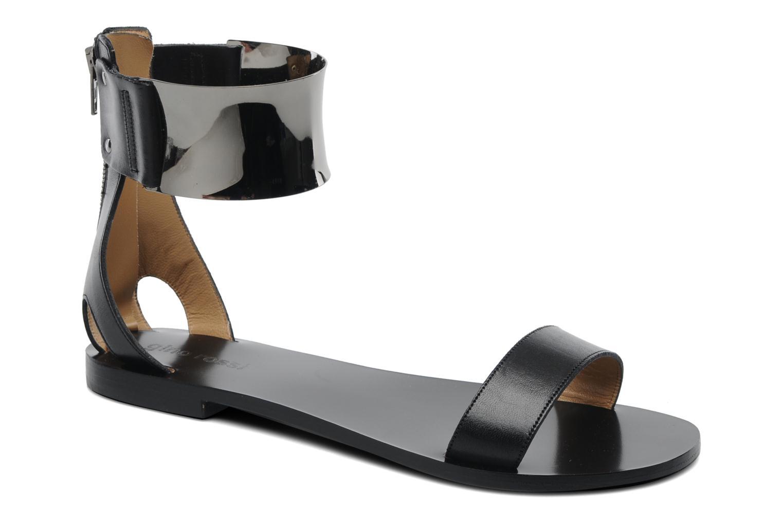 Sandaler Gino Rossi Franco Sort detaljeret billede af skoene