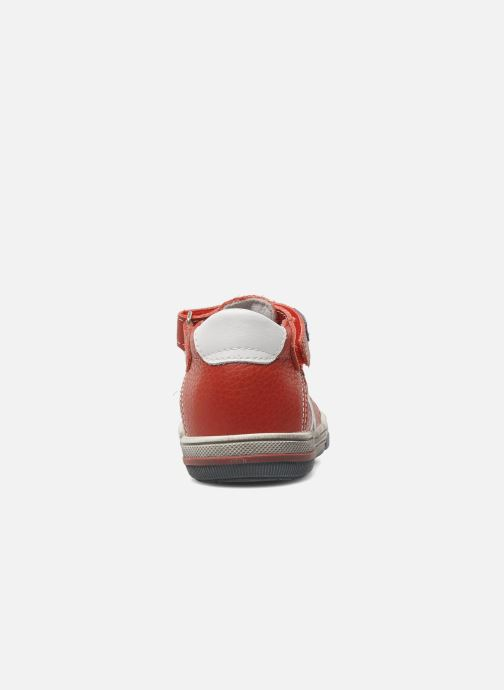 Zapatos con velcro Bopy BESSAT Rojo vista lateral derecha