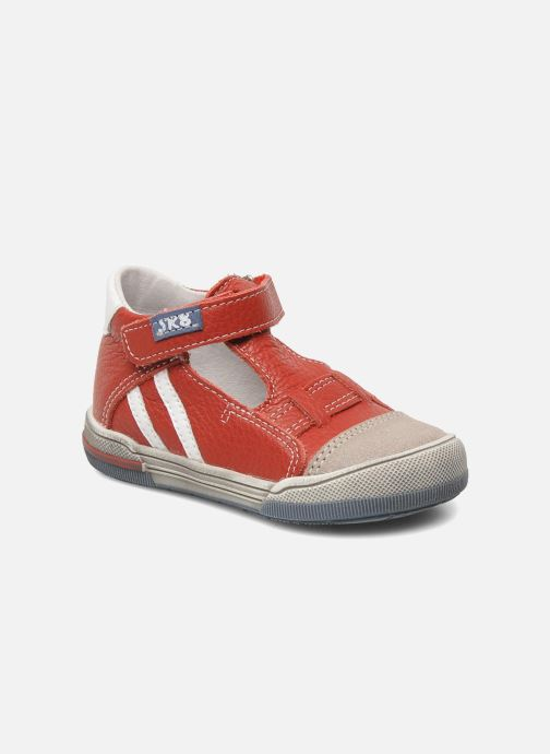 Velcro shoes Bopy BESSAT Red detailed view/ Pair view