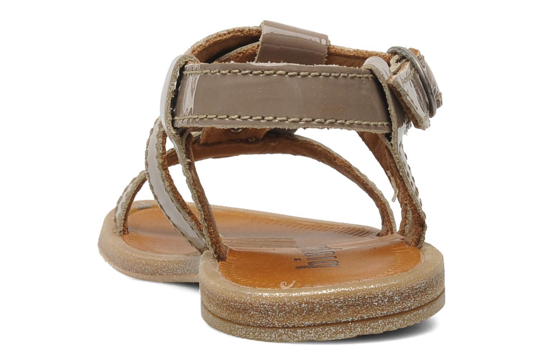 Sandales et nu-pieds Bisgaard Raspob Gris vue droite