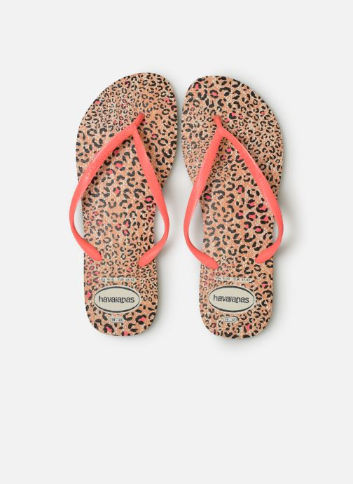Tongs Havaianas Slim Animals Orange vue portées chaussures