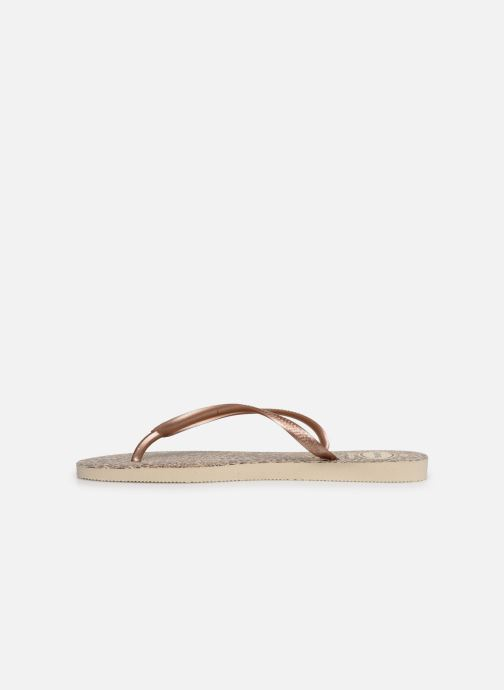 Tongs Havaianas Slim Animals Marron vue face