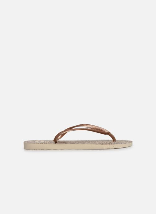 Tongs Havaianas Slim Animals Marron vue derrière