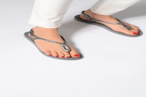 792f43bd6cb Sandales et nu-pieds Havaianas Luna Or et bronze vue bas   vue portée sac