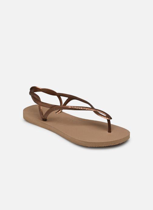 Sandales et nu-pieds Havaianas Luna Or et bronze vue portées chaussures