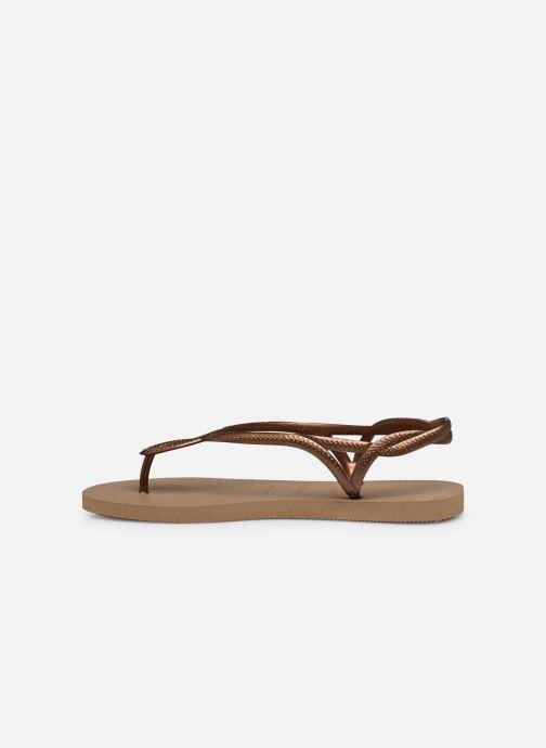 Sandales et nu-pieds Havaianas Luna Or et bronze vue face