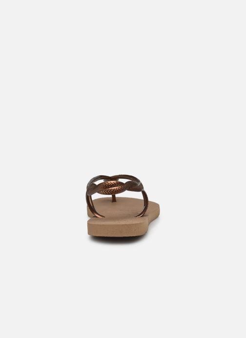 Sandales et nu-pieds Havaianas Luna Or et bronze vue droite