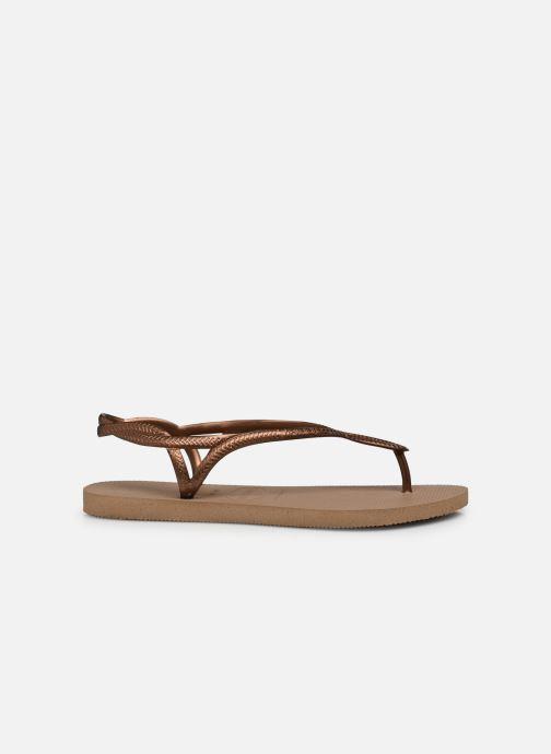 Sandales et nu-pieds Havaianas Luna Or et bronze vue derrière