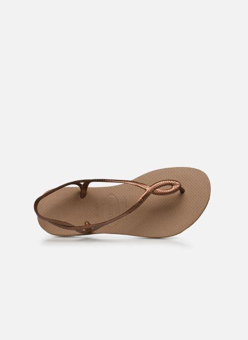 Sandales et nu-pieds Havaianas Luna Or et bronze vue gauche
