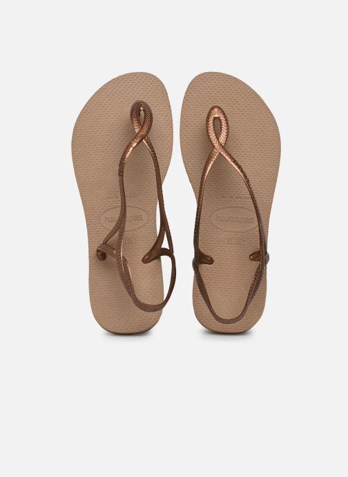 Sandales et nu-pieds Havaianas Luna Or et bronze vue détail/paire