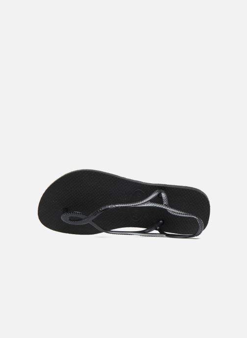 Sandals Havaianas Luna Black view from the left
