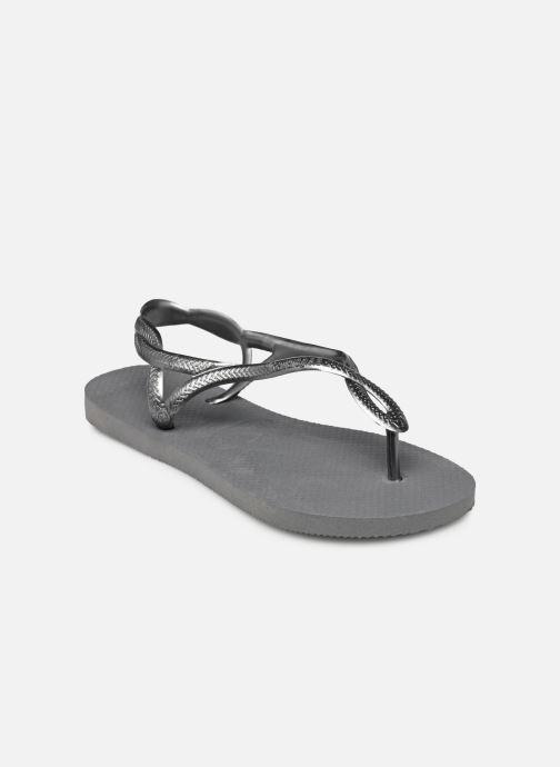 Sandales et nu-pieds Havaianas Luna Gris vue portées chaussures