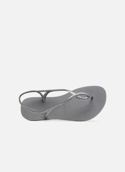 Sandals Havaianas Luna Grey view from the left