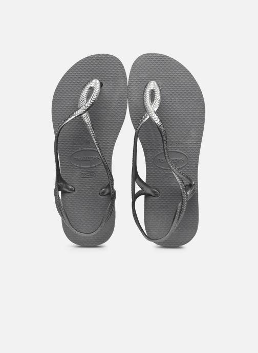 Sandales et nu-pieds Havaianas Luna Gris vue détail/paire