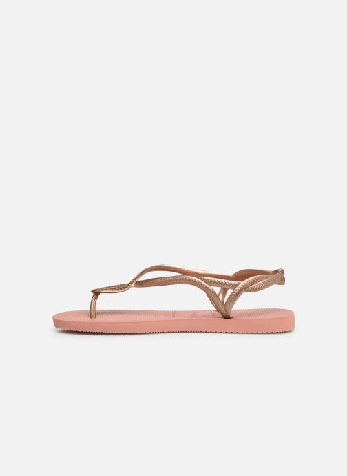 Sandales et nu-pieds Havaianas Luna Rose vue face