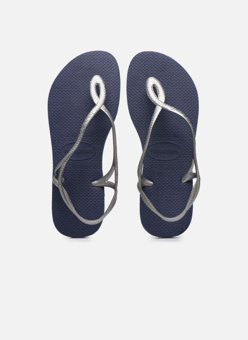 Sandales et nu-pieds Havaianas Luna Bleu vue portées chaussures