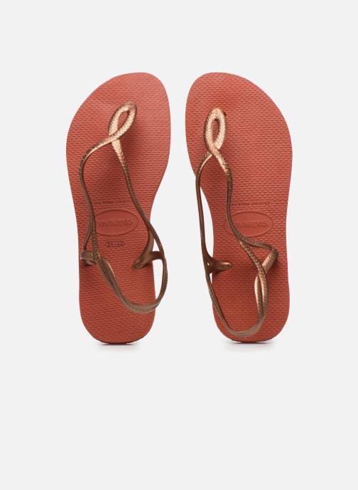 Sandales et nu-pieds Havaianas Luna Rouge vue portées chaussures