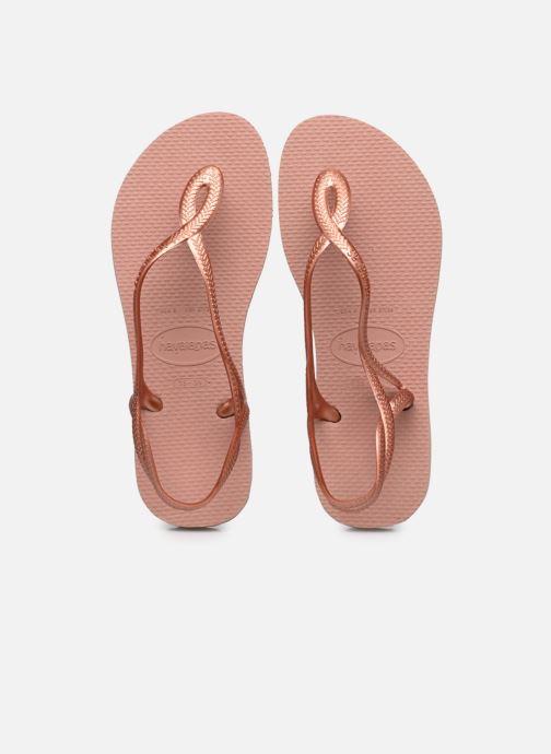 Sandales et nu-pieds Havaianas Luna Rose vue détail/paire