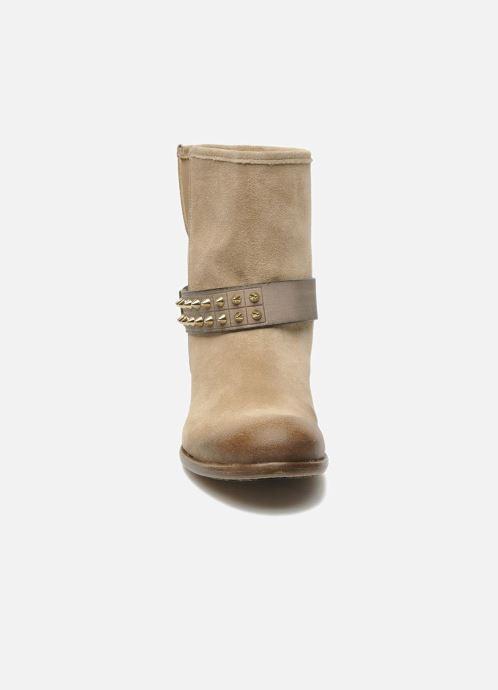 Bottines et boots Liu Jo Biker Basso Tea Beige vue portées chaussures