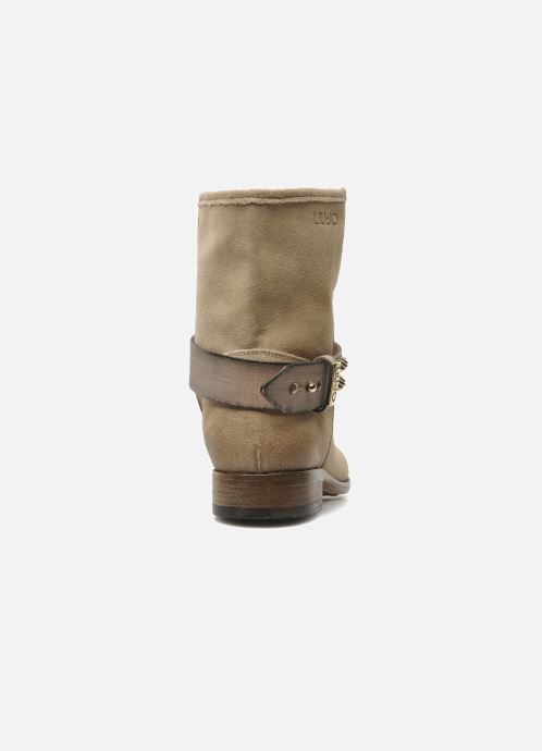 Bottines et boots Liu Jo Biker Basso Tea Beige vue droite