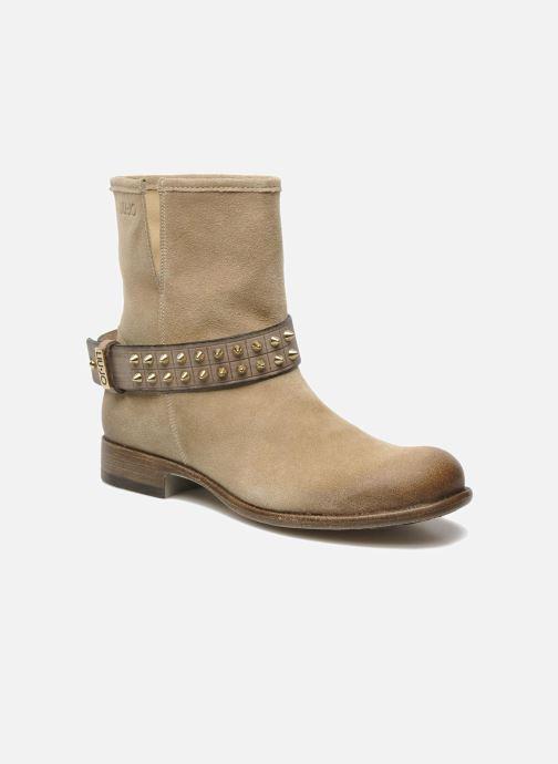 Bottines et boots Liu Jo Biker Basso Tea Beige vue détail/paire