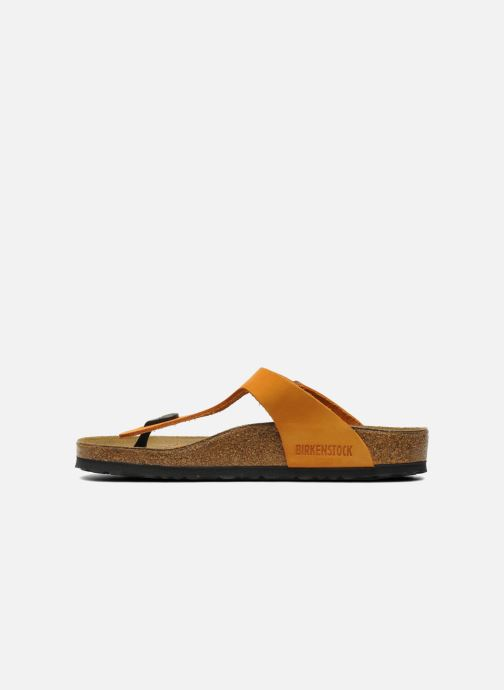 Tongs Birkenstock Gizeh Nubuck W Orange vue face