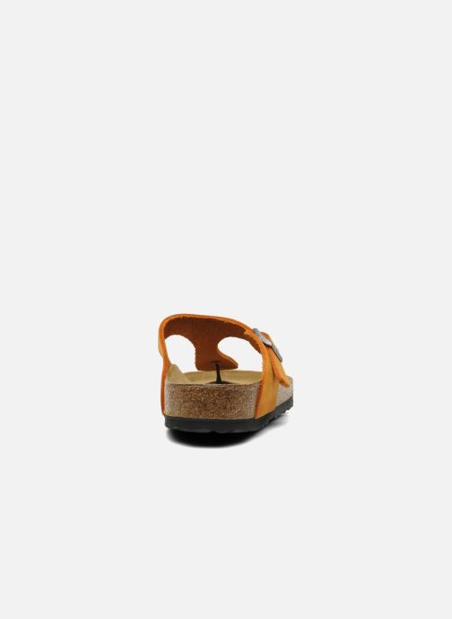 Flip flops Birkenstock Gizeh Nubuck W Orange view from the right
