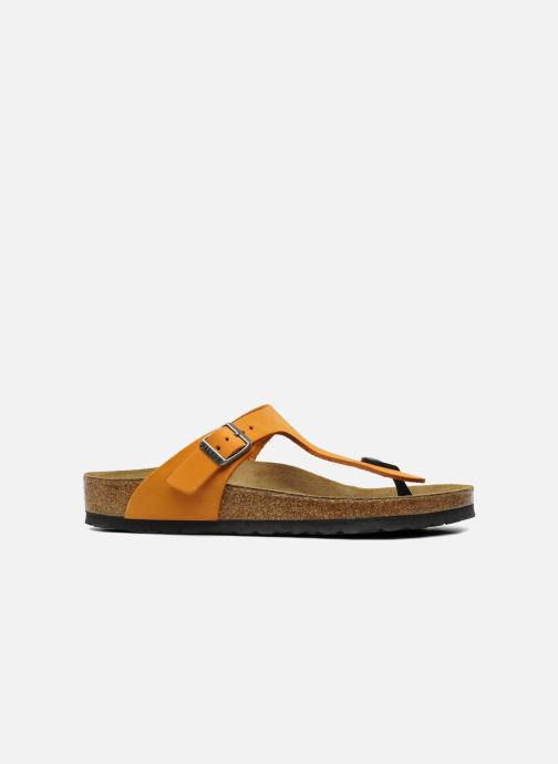 Flip flops Birkenstock Gizeh Nubuck W Orange back view