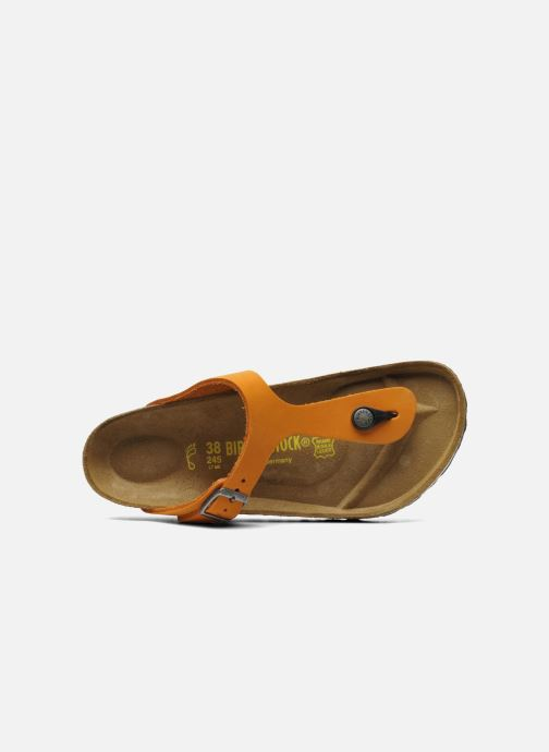 Flip flops Birkenstock Gizeh Nubuck W Orange view from the left