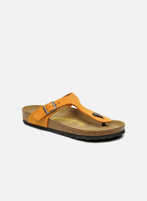 Tongs Birkenstock Gizeh Nubuck W Orange vue détail/paire