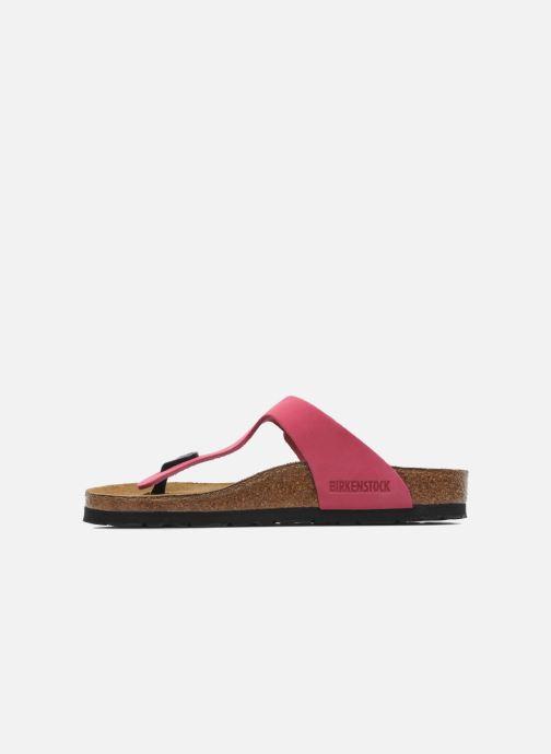 Flip flops Birkenstock Gizeh Nubuck W Pink front view