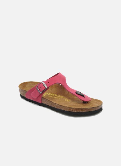 Flip flops Birkenstock Gizeh Nubuck W Pink detailed view/ Pair view