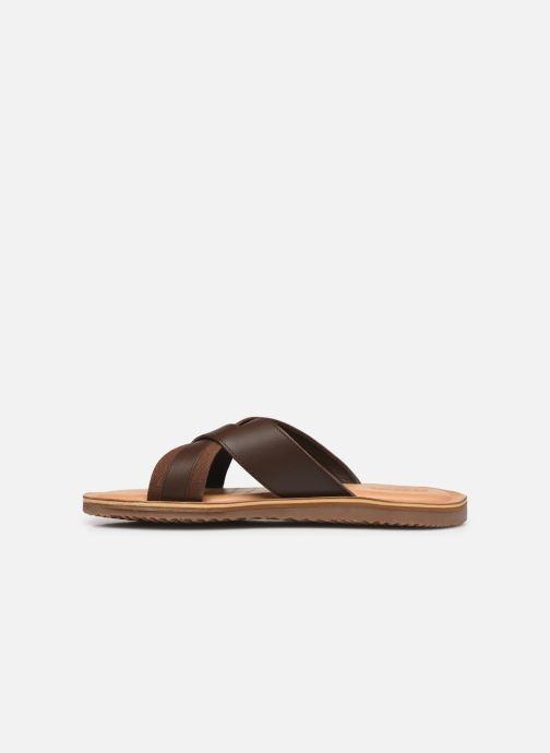 Sandales et nu-pieds Geox U ARTIE A Marron vue face