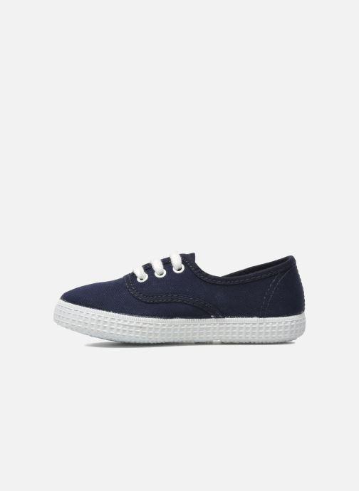 Sneakers Victoria Inglesa Lona Azzurro immagine frontale
