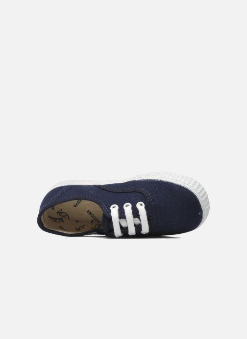 Sneakers Victoria Inglesa Lona Azzurro immagine sinistra