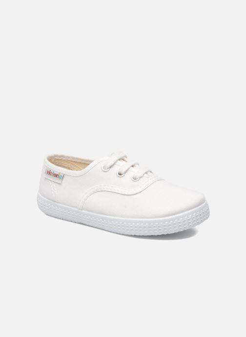 Sneakers Victoria Inglesa Lona Hvid detaljeret billede af skoene
