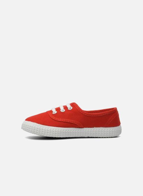 Sneakers Victoria Inglesa Lona Rosso immagine frontale