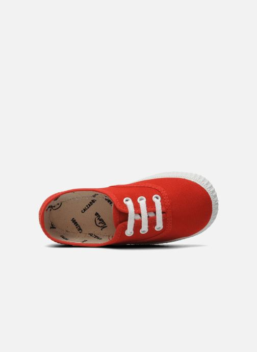Sneakers Victoria Inglesa Lona Rosso immagine sinistra