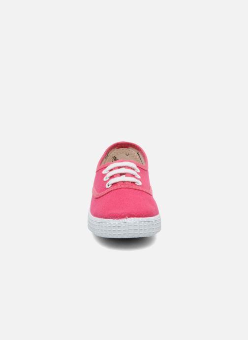 Sneaker Victoria Inglesa Lona rosa schuhe getragen